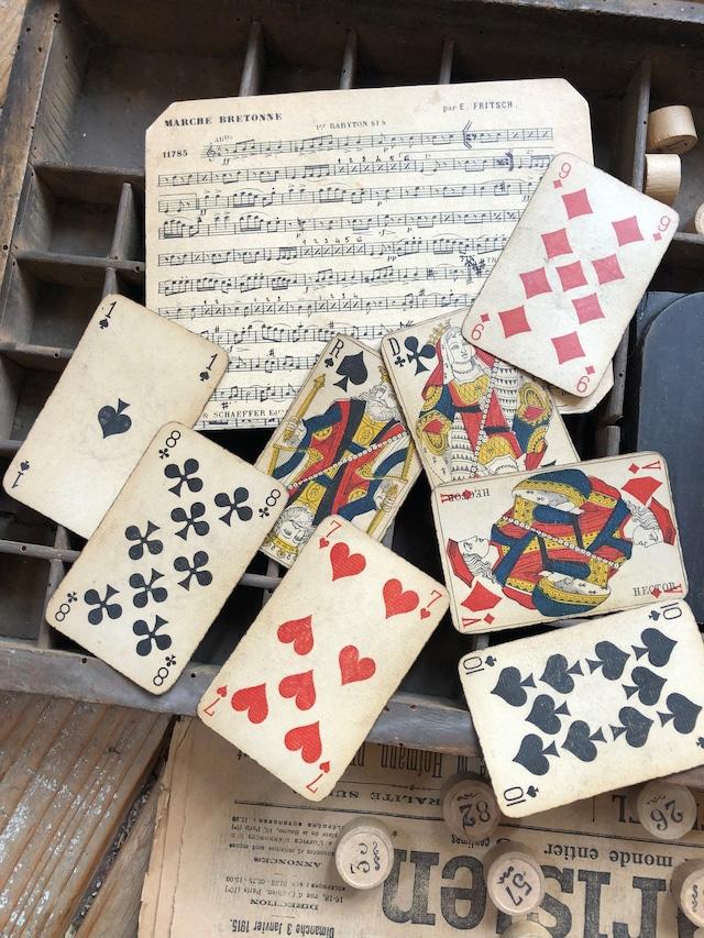 トランプカード8枚セット+楽譜シート