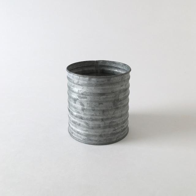 ブリキのポット 波型 S|Tin Pot Wave Shape S