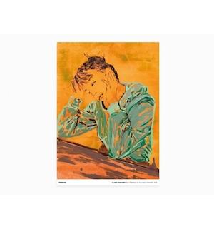 Claire Tabouret - Self-portrait at a Table (orange)