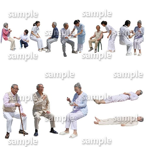 医療人物SketchUp素材10個 4p_set050 - 画像2