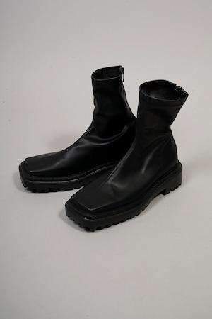 STRETCH SQUARE RUBBER SOLE BOOTS  (BLACK) 2109-33-89