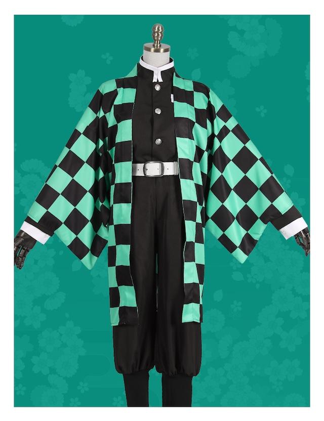 コスプレ 竈門 炭治郎風(かまど たんじろう) コスチューム 衣装 なりきり 制服 着物 ハロウィン パーティー