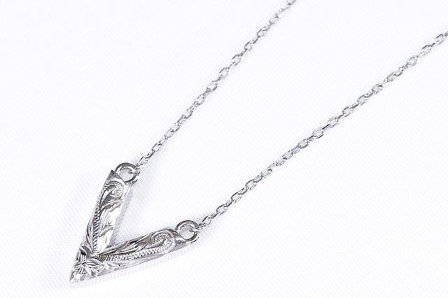 【316L Hawaiian v choker necklace】/ SILVER