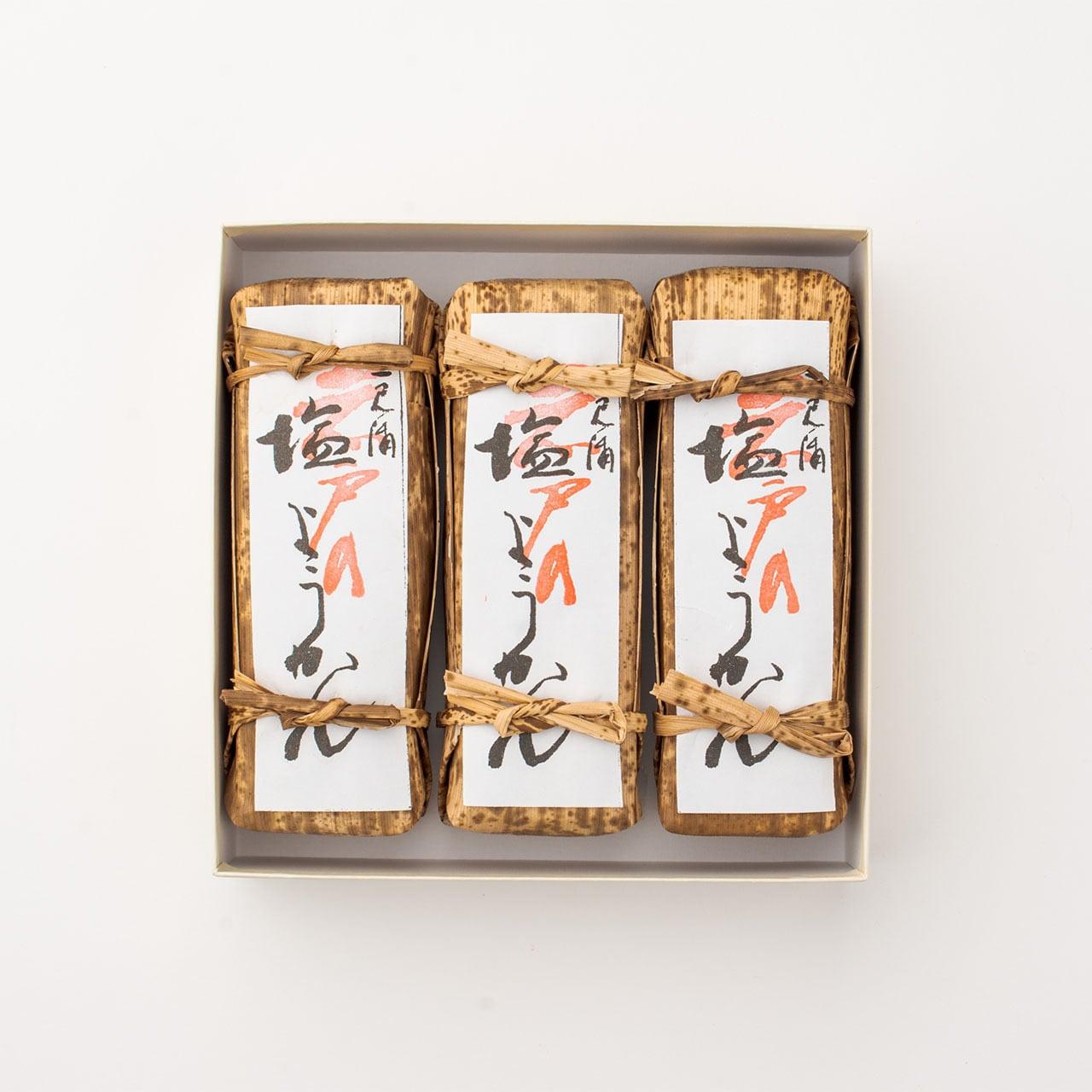 二見浦岩戸の塩ようかん 3本入化粧箱