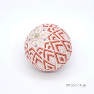 手まり制作キット「ひな桜」(テキストあり)_KIT006-1