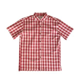 オリジナル パラカシャツ Men's ボタンダウン / レッド