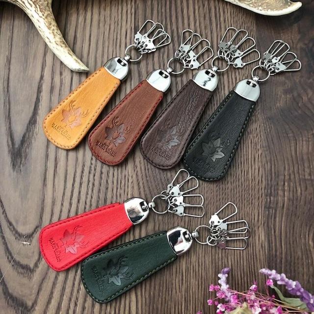 【革工房BELL'S】★広島ジビエレザー鹿革★珍しい鹿革の靴べらキーホルダー