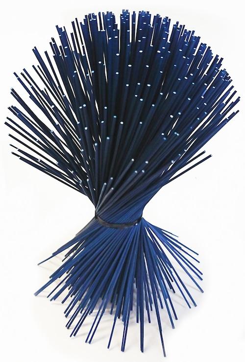 【イ草フラワー ミニ ダークブルー】Rush Grass Flower Mini Dark Blue 17.5cm