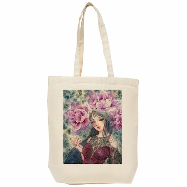 紫牡丹の姫君 トートバッグ