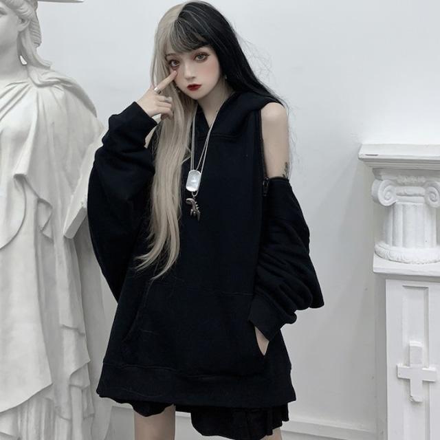 【トップス】カジュアル無地透かし彫りファッションパーカー31461647