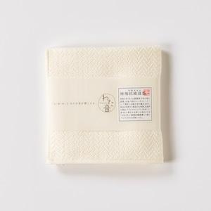わた音ハンカチーフ/ヘリンボーン織り/生成(キナリ)1-65607-86-OW