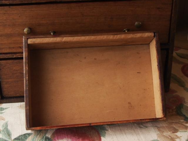 イギリスアンティーク 木製小引き出し