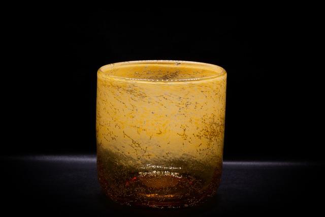 Amber Gold Flower Vase