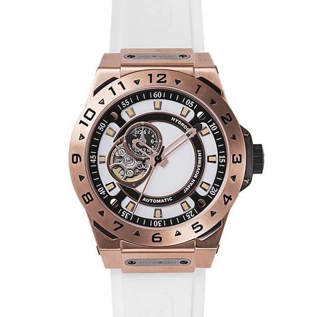 【HYDROGEN WATCH ハイドロゲンウォッチ】HW424401/VENTO ヴェント(ホワイト×ピンクゴールド)/国内正規品 腕時計