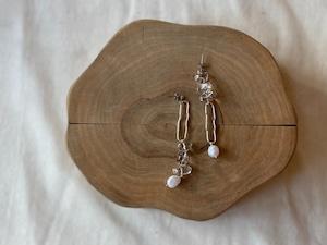 asymmetry clear long pierce/earrings