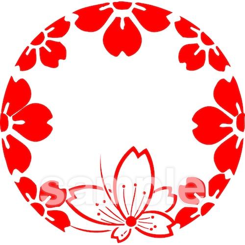 花かんざし紋 4月・桜(電子印鑑)