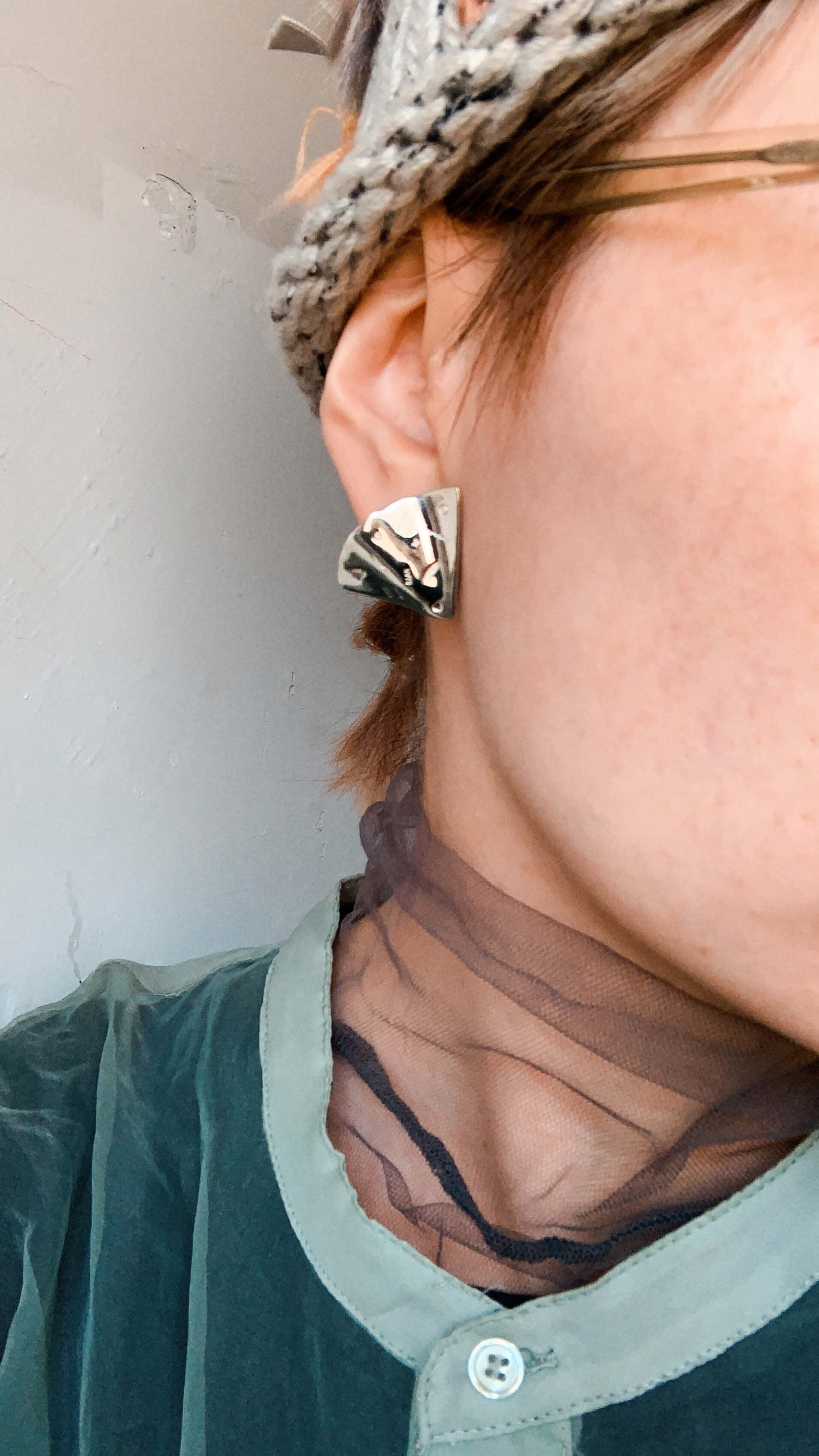 STAMP PIZZA earring 1piece