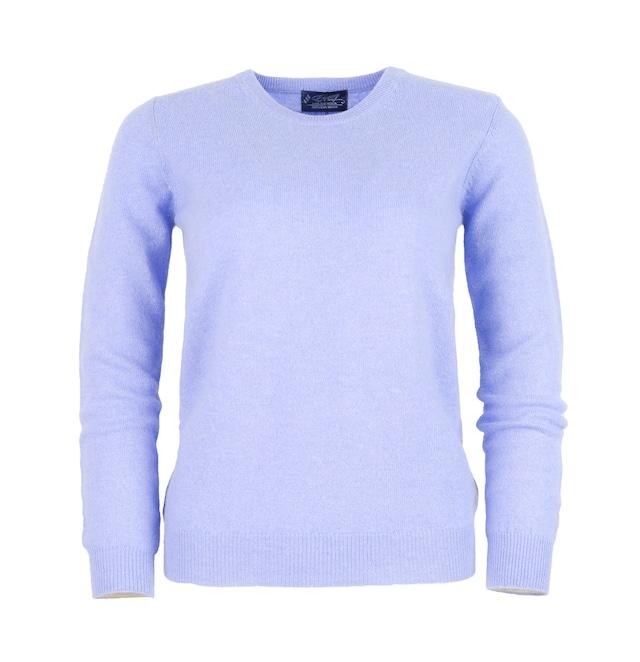 婦人クルーネックセーター (100%ピュアカシミヤ) 色: 空色(401)型番:1217−1490