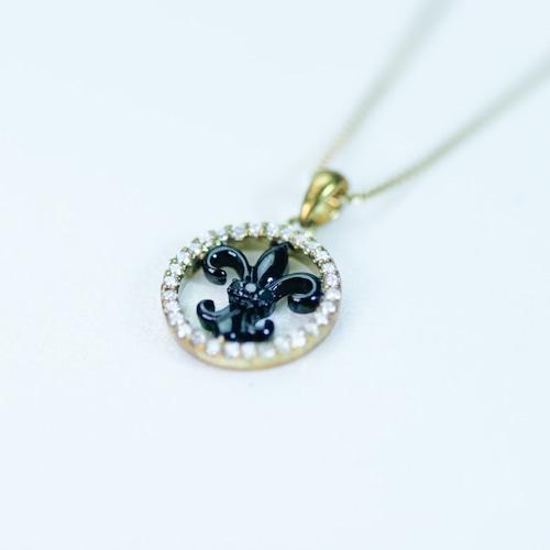 ブラックダイヤモンドのペンダント 紋章 K18