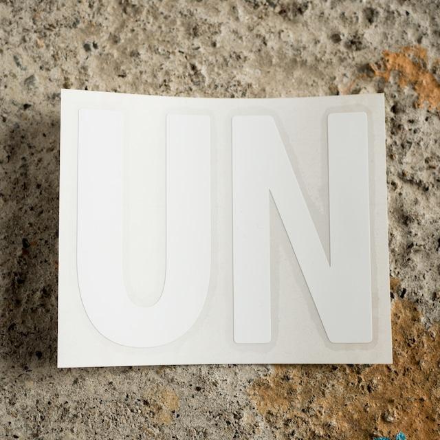 unfudge LOGO STICKER / WHITE