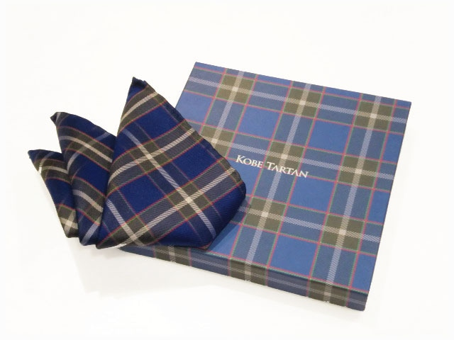KOBE TARTAN        神戸タータン           シルクポケットチーフ