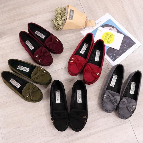 モカシン 韓国ファッション フラットシューズ リボン ローファー ぺたんこ 歩きやすい 疲れにくい レレディース DCT-563649786703