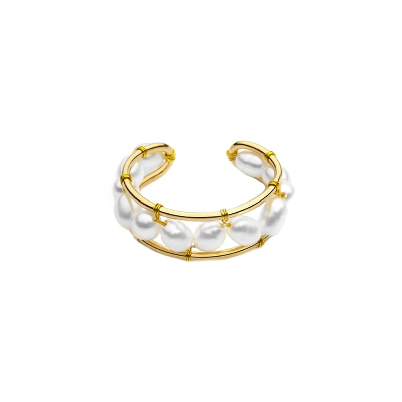 Sand pearl ring|リング