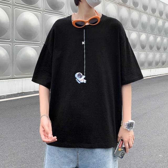 【メンズファッション】好感度100% カジュアル プルオーバー 半袖 コットン 無地 プリント Tシャツ44524153