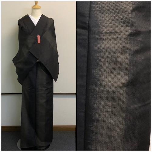 ★ 小紋 黒 洗える 丈150 縞 Sサイズ 子ども★ 3150