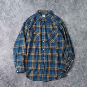 60年代 Wrangler ウエスタンシャツ コットンネルシャツ 27MW ヴィンテージ 古着