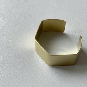 【_Fot】plate bangle 20mm_angula/0901a20