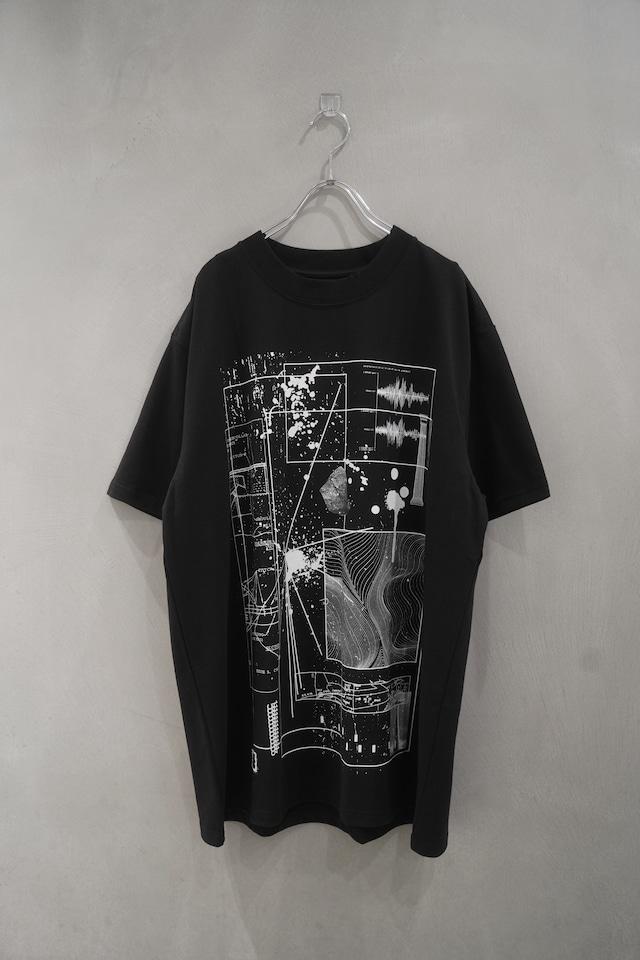 room13  KIKAGAKU T-shirt  Black