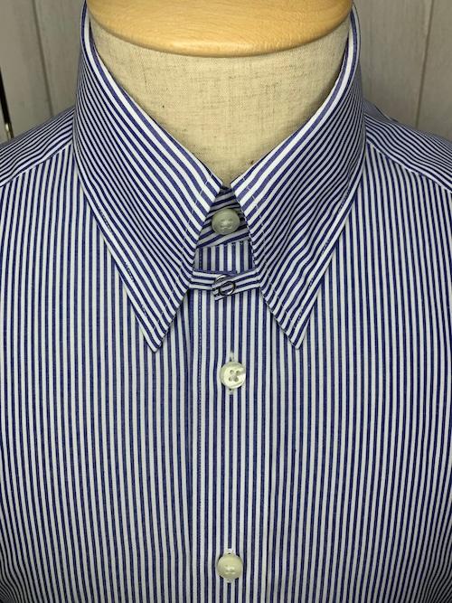 シャツ(単品)Mサイズ タブカラー ロンドンストライプ