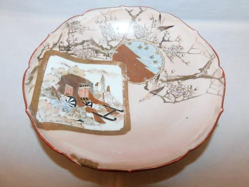 九谷絵皿 Kutani porcelain plate