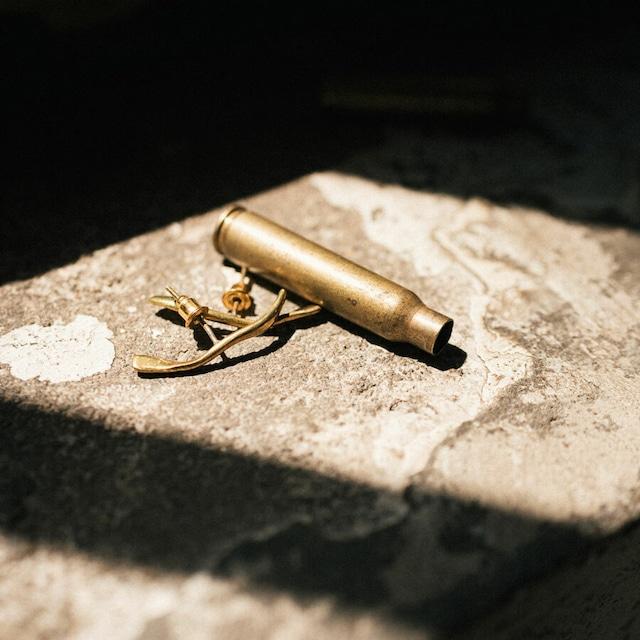 ABSTRACT pierce / 弾丸の空薬莢から作られた真鍮ピアス