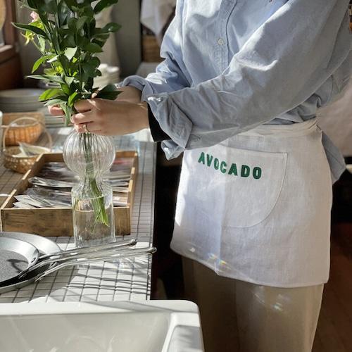 AVOCADO APPLE CARROT mini apron / アボカド アップル キャロット ミニエプロン ポケット 韓国雑貨