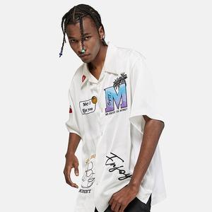 【MEDM】半袖ワッペンシャツ ホワイト