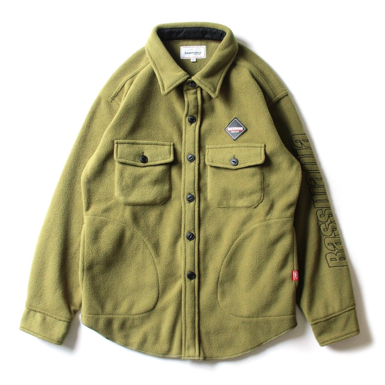 ロゴ刺繍フリースCPOジャケット [KHA]