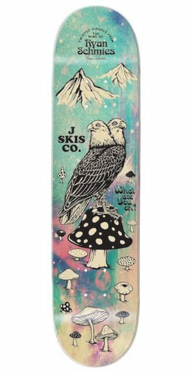 J skis - BLACK SUNSHINE スケートデッキ