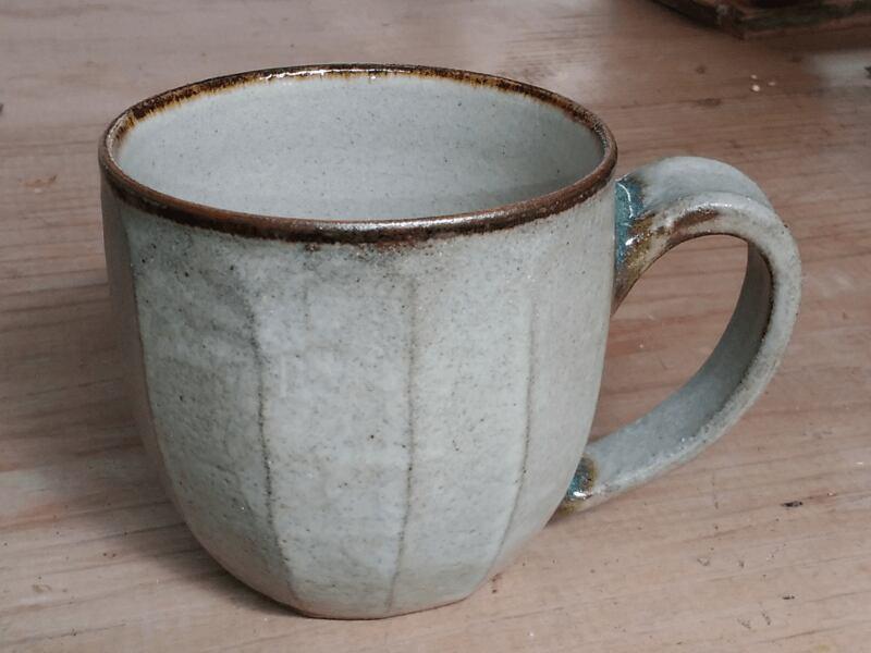 コーヒーが似合うマグカップ(灰) 【青陶舎】
