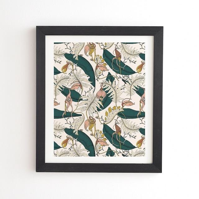 フレーム入りアートプリント  ORCHID GARDEN AMORA  BY HOLLI ZOLLINGER 【受注生産品: 11月下旬頃入荷分 オーダー受付中】