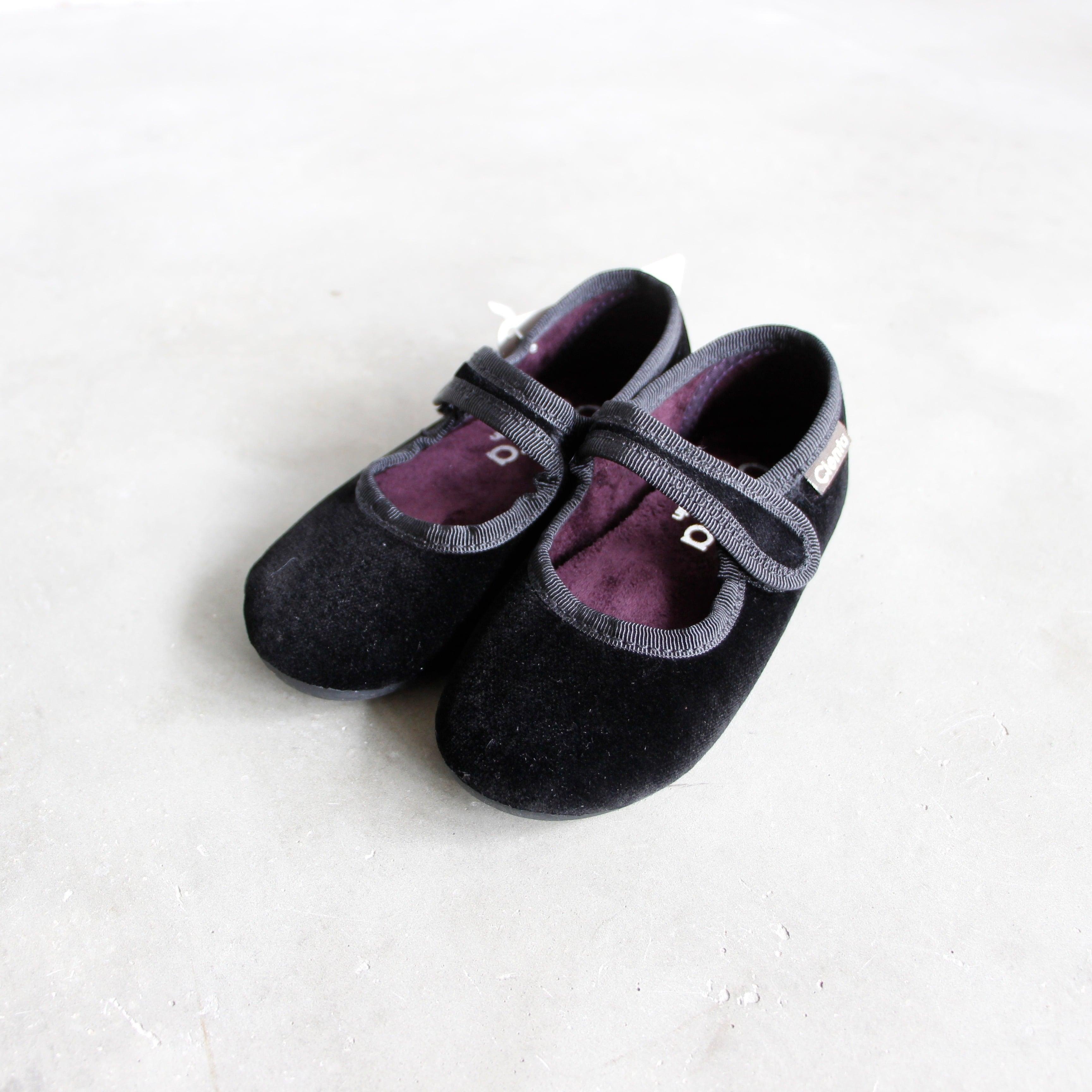《CIENTA》フォーマルストラップ / veloure black / 22-23cm