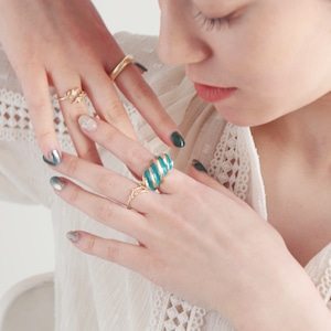 RING || 【通常商品】 SNAIL RING (TURQUOISE BLUE) || 1 RING || TURQUOISE BLUE || FBB011