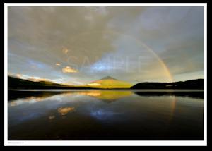 アート写真プリント A4サイズ 伝説の虹