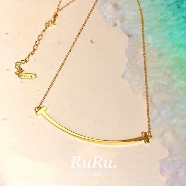 smile necklace / 316L stainless