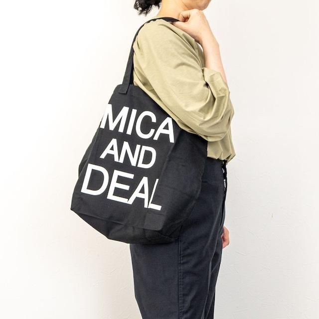 【MICA&DEAL/マイカアンドディール】MICAロゴコットンバッグ(ブラック)