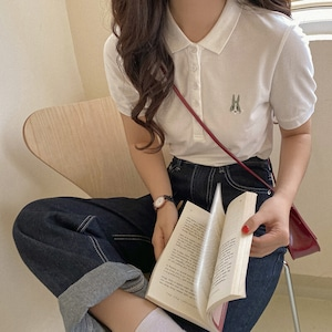 ラビット刺繍ベーシックポロシャツ U5870