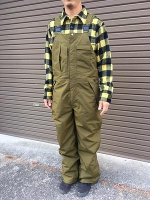 Green Clothing  BIB PANTS  Khaki Lサイズ