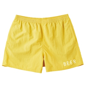BEER ナイロンショートパンツ イエロー