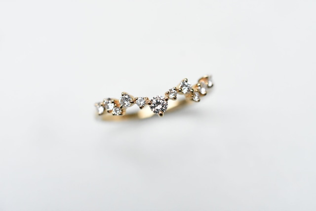 スタックリング 2 ダイヤモンド / Pt900 / K18YG